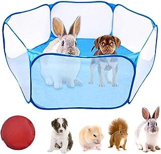 WEONE Jaulas para Animales pequeños, Parque de Juegos portátil para Mascotas Ejercici, Transpirable Plegable Parque para C...