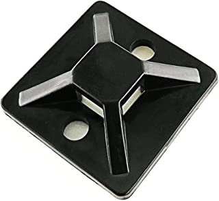 Cable Tie Base Self Adhesive Black 20mm x 20mm Pack of 2