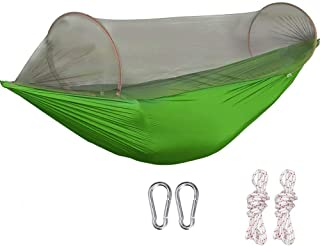 G4Free Large Camping Hammock with Net Parachute Lightweight Swing Sleeping Hammock