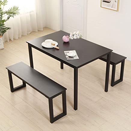 Amazon Com Bonnlo Modern Dining Set Kitchen Dining Table With 2