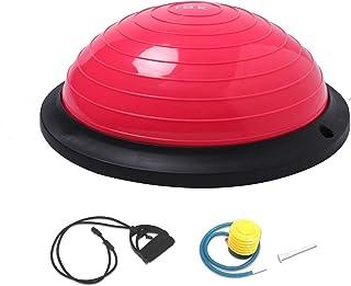 comprar comparacion ISE Balance Trainer Fitball Media Bola de Equilibrio para Entrenamiento, Ø46cm Gym Pelota Balón Semiesfera de Gimnasia Pil...