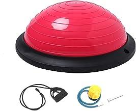 ISE Balance Trainer Fitball Media Bola de Equilibrio para Entrenamiento, Ø46cm Gym Pelota Balón Semiesfera de Gimnasia Pilates con Cables y Inflador para Yoga y Fitness,MAX.150 KG, SY-BAS1003
