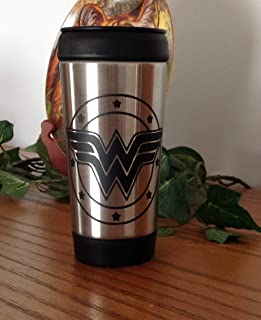 Wonder Woman 14 oz Stainless Steel Travel Mug with Lid