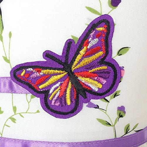KP13 Girls Dress Purple Flower Party Size 7-8