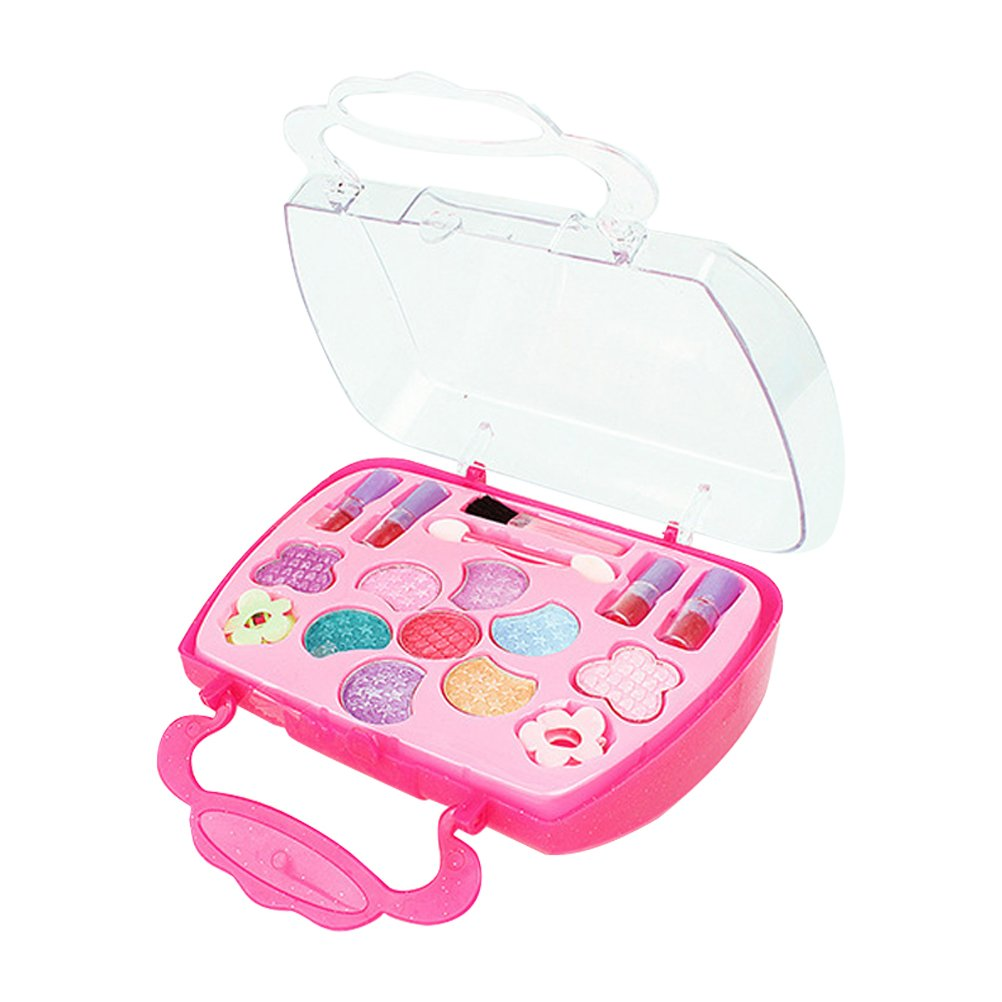 TOYANDONA niñas niñas Princesa fingir Viajar Maquillaje Caja niños vanidad salón de Belleza cosmético Lavable Estuche: Amazon.es: Hogar