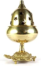 ASHIRWAD Brass Akhand Jyot Oil Ghee Diya Lamp for Puja (5.70 Inches)
