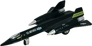 Kinsmart Black X-Planes Air Force SR-71A Blackbird Die Cast Jet Plane Toy with Pull Back Action