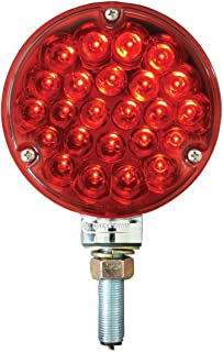 GG Grand General 78353 4 inches Single Faced Pearl 24 LED Sealed Pedestal Light with Red Lens