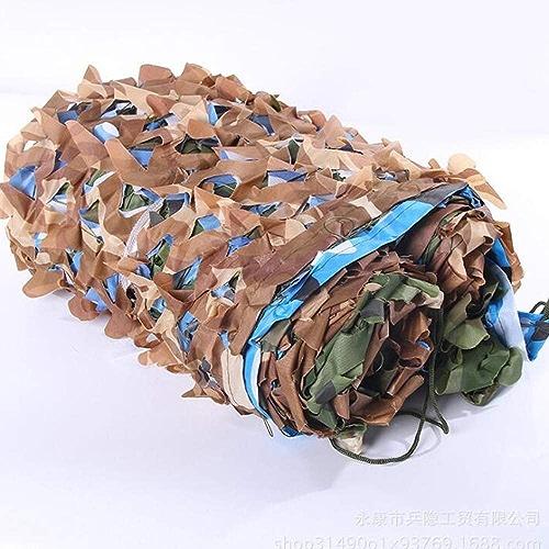 JIAYUAN Filet de camouflage, filets de camouflage pour la forêt, idéal pour les parasols militaires, camping, tir, partie de chasse, décoration (taille   13×30ft 4×9m)