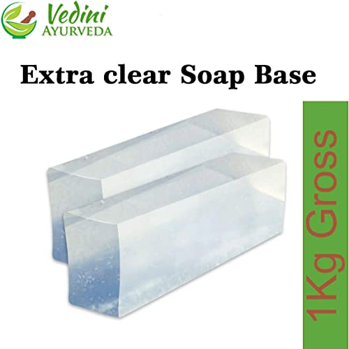 Vedini Extra Clear Melt and pour Soap Base, 950Gm Net