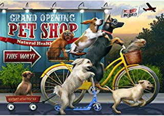 Wentworth Off to the Market 250 Piece Wooden Dog Jigsaw Puzzle with Wood Whimsy Shaped Pieces