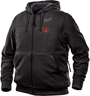 Milwaukee Hoodie M12 12V Lithium-Ion Heated Jacket Front and Back Heat Zones - Battery Not Included - All Sizes and Colors (Medium, Black)