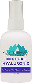 Anti Aging Wrinkle Filler of 100% Pure Hyaluronic Acid for Face - No Alcohol, No Parabens, Vegan & USA - Hyaluronic Levels...
