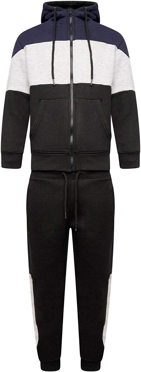Inspire Me Boys/' Tracksuit for Age 5-13 Years Poly-Cotton Fleece Hoodie and Bottom Joggers Suit to be Worn Anywhere with Exceptional Design