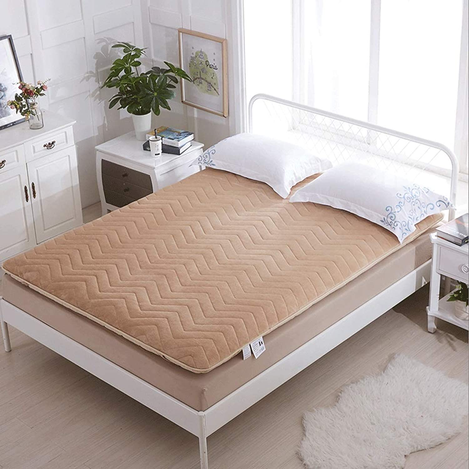 Cotton and Linen Single Mattress, Household Thick Tatami Mat, Foldable (color   C, Size   120x200x5cm)