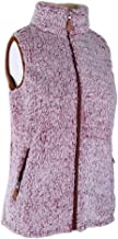 Warmhol Sherpa Waistcoat Casual Sherpa Fleece Vest Zip up Outerwear with Pockets Sherpa Vests for Women