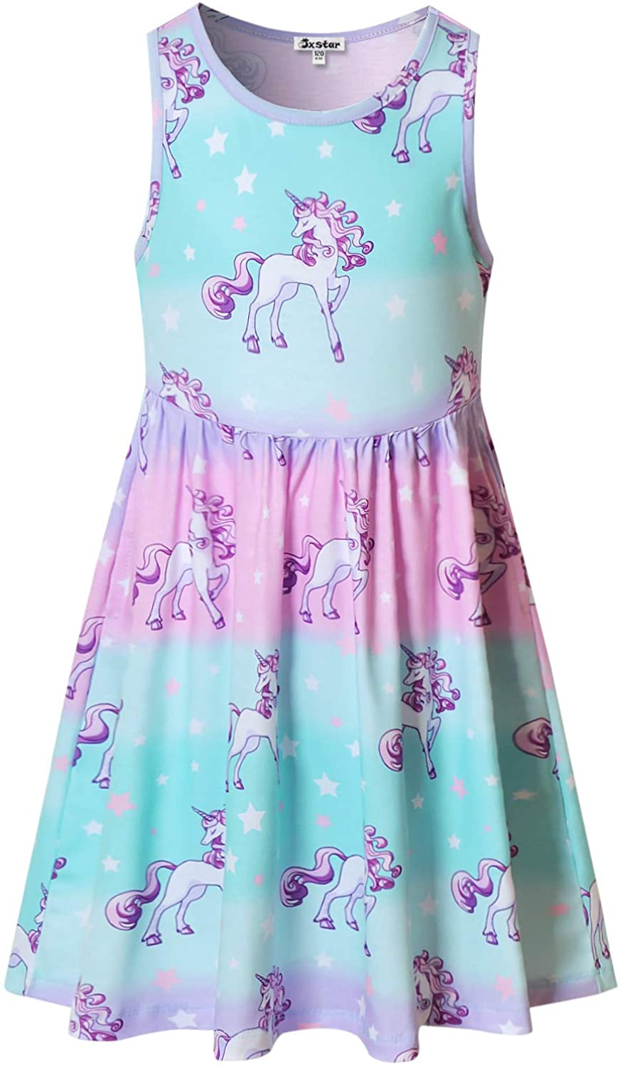 Girls Sleeveless Unicorn Mermaid Dresses Hawaiian Clothes Summer Manufacturer direct Special price delivery
