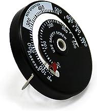 A/R Ventilador movido a calor de 6 lâminas para fogão a lenha e lareira - ventilador ecológico e eficiente (preto)