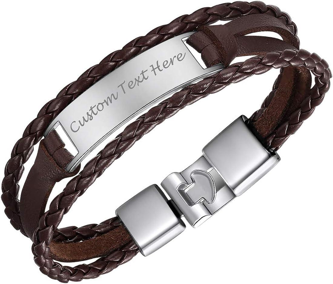 shopping U7 Men Women Max 90% OFF Customized ID or Wristband Bracelet Sport Official