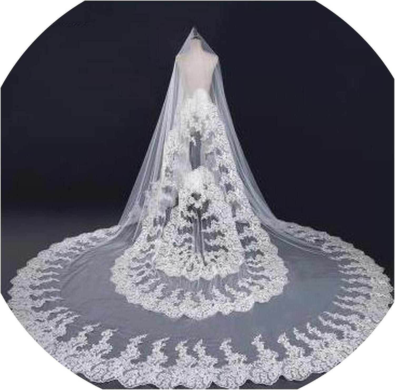 3  3M White Ivory Wedding Veil long Bridal Veil Head Veil EE7084,WHITE,300cm