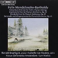 メンデルスゾーン:ヴァイオリンとピアノのための協奏曲 作品22 他