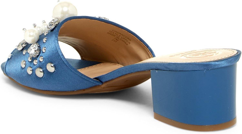GUESS Womens Dancerr Satin Open Toe Casual Slide Sandals