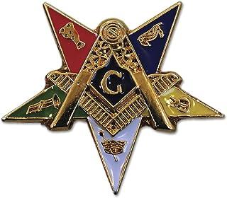 "Order of The Eastern Star Patron Masonic Lapel Pin - [1"" Tall]"