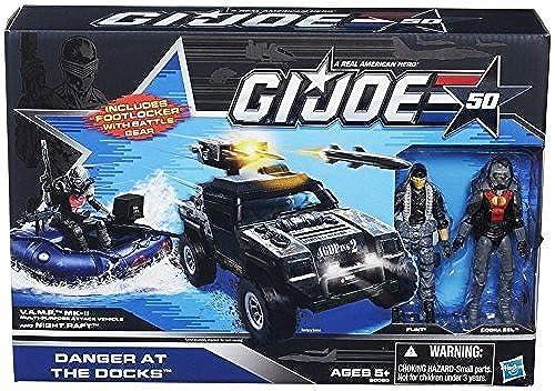 marcas de moda Hasbro GI Joe Danger at the Docks Docks Docks Set with Flint, Cobra Eel, Cobra Night Raft and the Vamp Mark II  buen precio