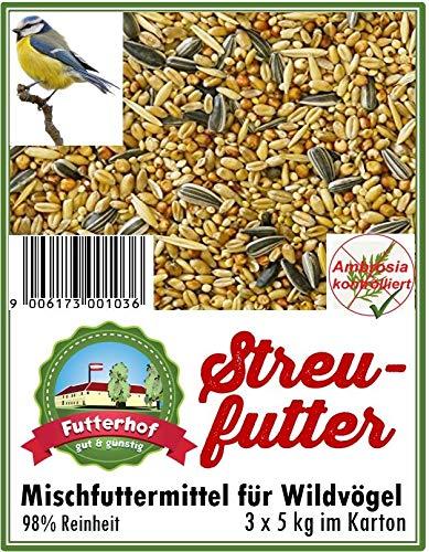 Futterhof Streufutter 3 x 5 kg = 15 kg, GRATIS Versand mit DHL