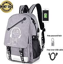 Anime Luminous Backpack Noctilucent Bags Daypack USB chargeing Port Laptop Bag Handbag for Men Women (Anime Luminous Backpack for Grey)