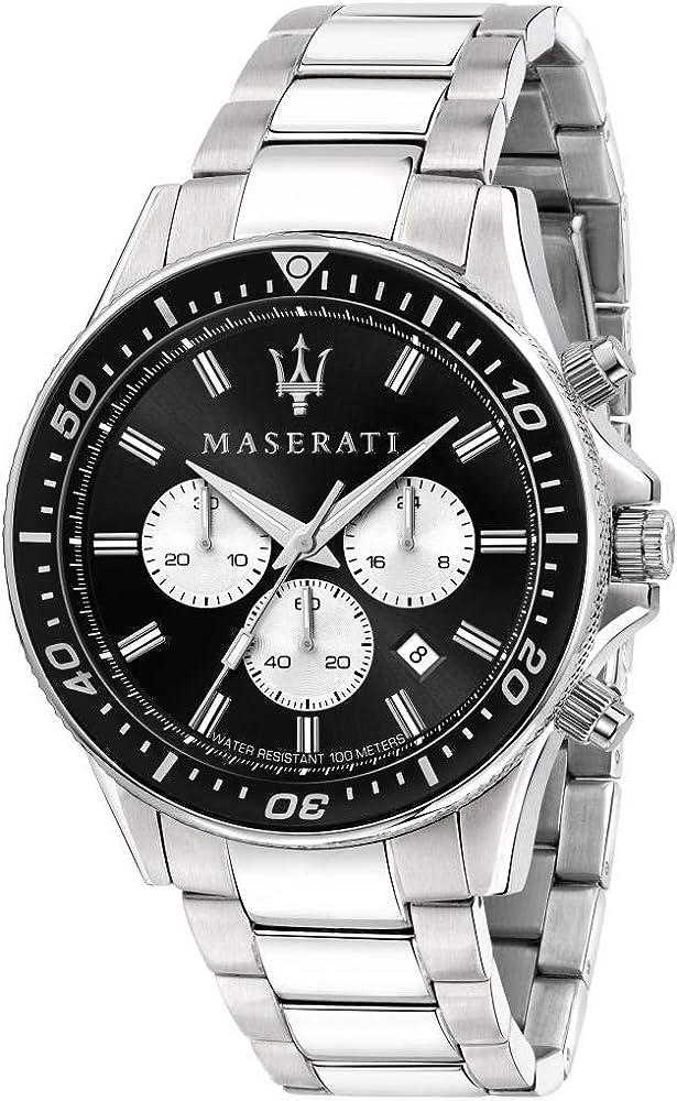 Maserati orologio da uomo, collezione sfida, in acciaio inossidabile 8033288894773