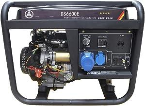 HIOD Grupo Electrógeno Generador de Gasolina de Emergencia 6000w 6kva 1 Fase con Tanque de Combustible 25L