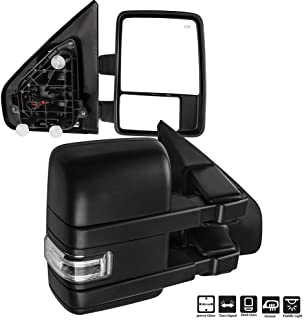 FINDAUTO Tow Mirrors Fit for 2014-2018 Chevy GMC 1500 2015-2019 Chevy GMC 2500//3500 HD Towing Mirrors with Driver and Passenger Side Power Heated LED Turn Signal Chrome with Adapter Plug
