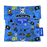 Roll'eat - Snack'n'Go Kids Bolsa Merienda Porta Sandwich Ecológica y Reutilizable sin BPA, Piratas Azul