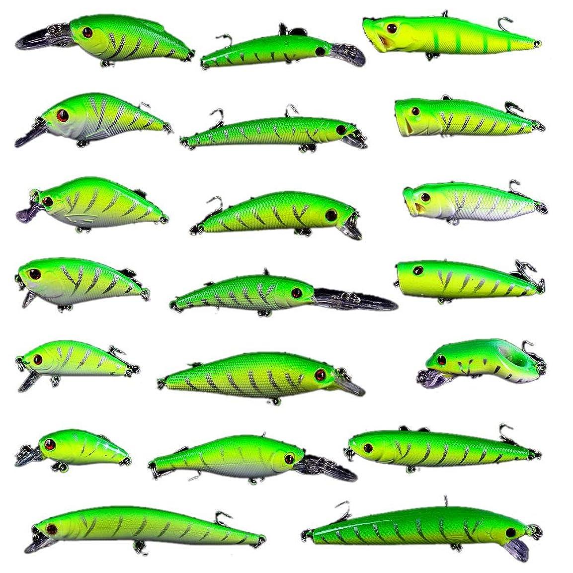 仲間オプショナル応答SNOWINSPRING 20個 釣りルアーセット 釣り餌 ミックス?サイズ 釣りタックル ミックス?ルアー/ポッパールアー/鉛筆 - VIB/クランクルアー
