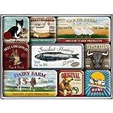 Nostalgic-Art 83032 Animal Club - Animal Club, Magnet-Set (9teilig)