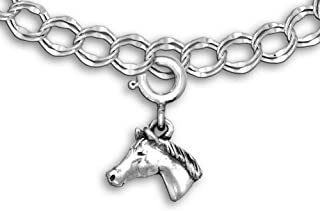 The Magic Zoo Sterling Silver Quarter Horse Charm for Charm Bracelet