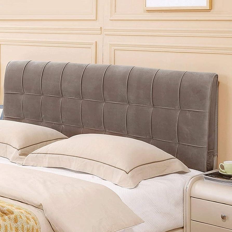 噴水前進コショウGLP 取り外し可能と洗えるベッドヘッドクッションベッドソフトパックヘッドボードソフトバッグ枕生地背もたれベッドカバー (Color : Gray, Size : Kein Bett Kopfteil - 120cm)