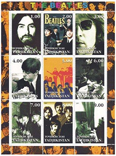 Beatles classiche foto - 9 francobolli per collezionisti su un foglio di francobolli ottime condizioni - Smontata e non incernierato