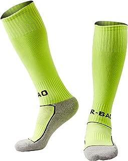 Kids Youth Soccer Socks Knee High Cotton Towel Bottom Football Socks for Boys/Girls (2 sizes / 3-14 Years)