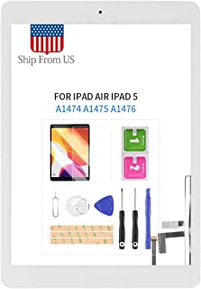 Screen Replacement Kit for iPad Air 1 1st Generation A1474 A1475 A1476 Touch Screen Digitizer Glass Panel with Home Button...
