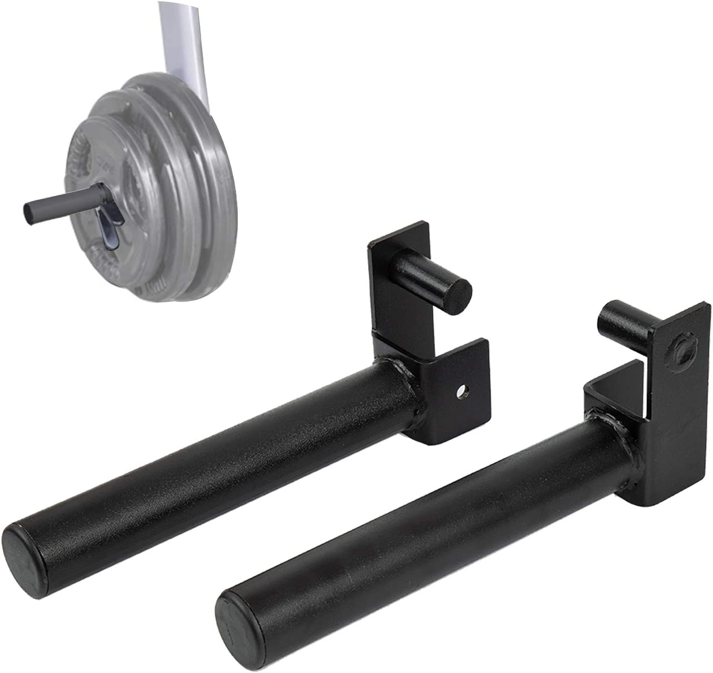 """Olympic Weight Plate Holder for 2""""x2"""" Tube Power Cage Weight Plate Storage Rack Attachment, Set of 2 : Sports & Outdoors"""