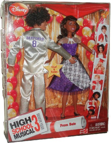 Disney Movie Series 'High School Musical 3 Senior Year' 2 Pack 11 Inch Doll - PROM DATE - Chad and Taylor (N6868)