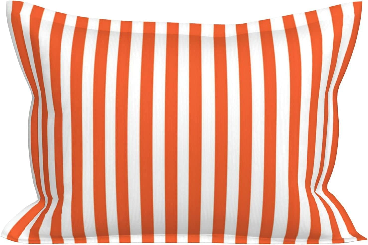 huaxian Pillowcase for Hair and St Skin Max 55% OFF Orange Striped White Sales sale