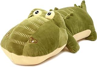 ألعاب الحيوانات المحشوة القطيفة التمساح لطيف رمي وسادة لعب الراحة النوم الشريك هدايا للأطفال 60 سم