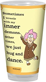 16 Oz Sip N Go Stainless Steel Lined Tumbler Tree-Free Greetings sg23892 Hilarious Aunty Acid Inner Demons by The Backland Studio Ltd