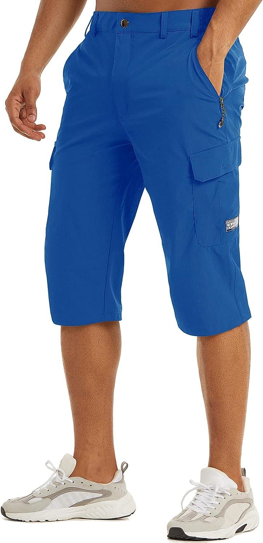 Ranking TOP1 TACVASEN Men's 3 4 Capri free Pants Hiking Quick Sh Dry Cargo Workout