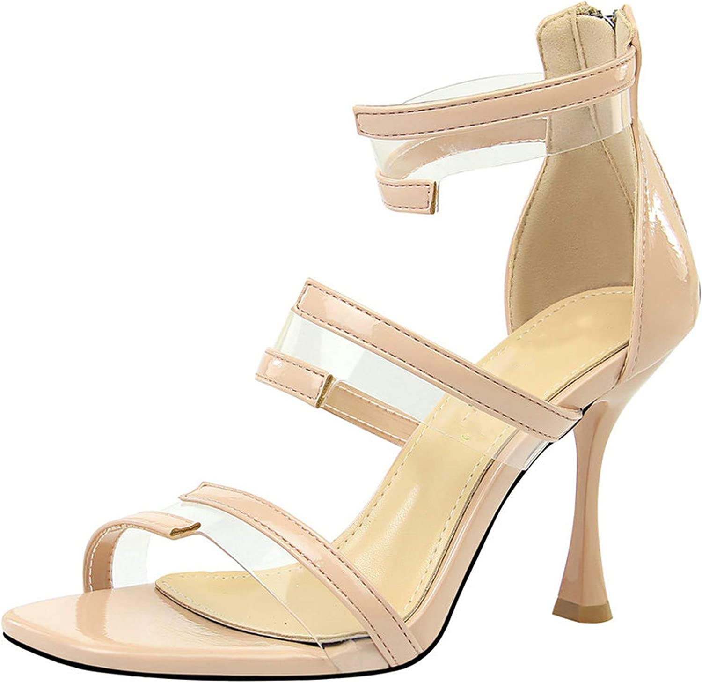 Yeenvan Size 34-40 Ladies Dress Sandals Woman Zips Patchwork shoes Woman 9.5Cm Heels shoes