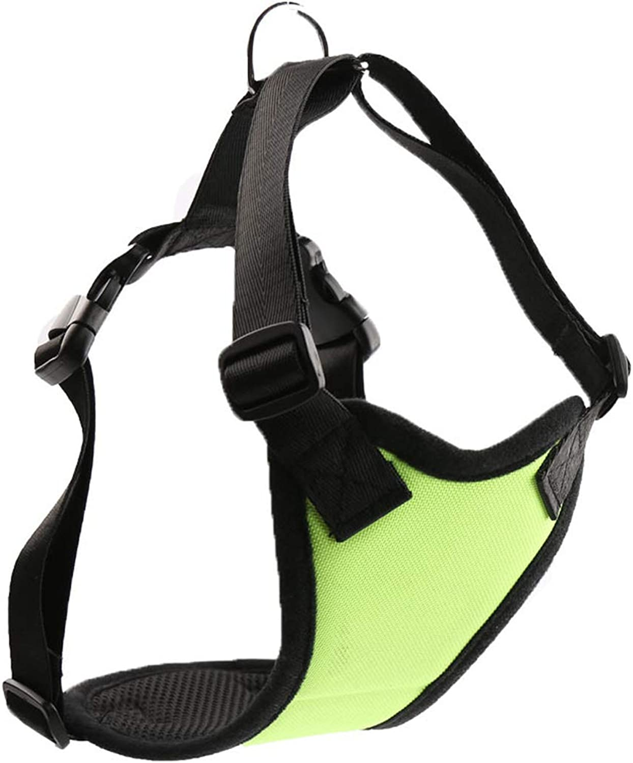 Pet Leash Dog Chest Strap, Dog Chain Hyena Rope Bullfighting Soft Traction Belt Ventilation for Small and Medium Dog Law (color   Green, Size   L)