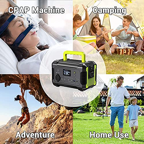 PAXCESS Portable Power Station 200W with Solar Panel Included, 230Wh Solar Generator with 120W Foldable Solar Panel, CPAP Backup Lithium Battery for Outdoor Camping RV Emergency Home Use